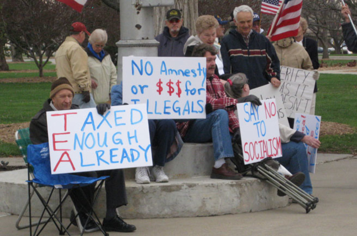 EXTREMELY DANGEROUS TEA PARTY PROTESTORS WERE ROUNDED UP AND SENT TO GULAGS
