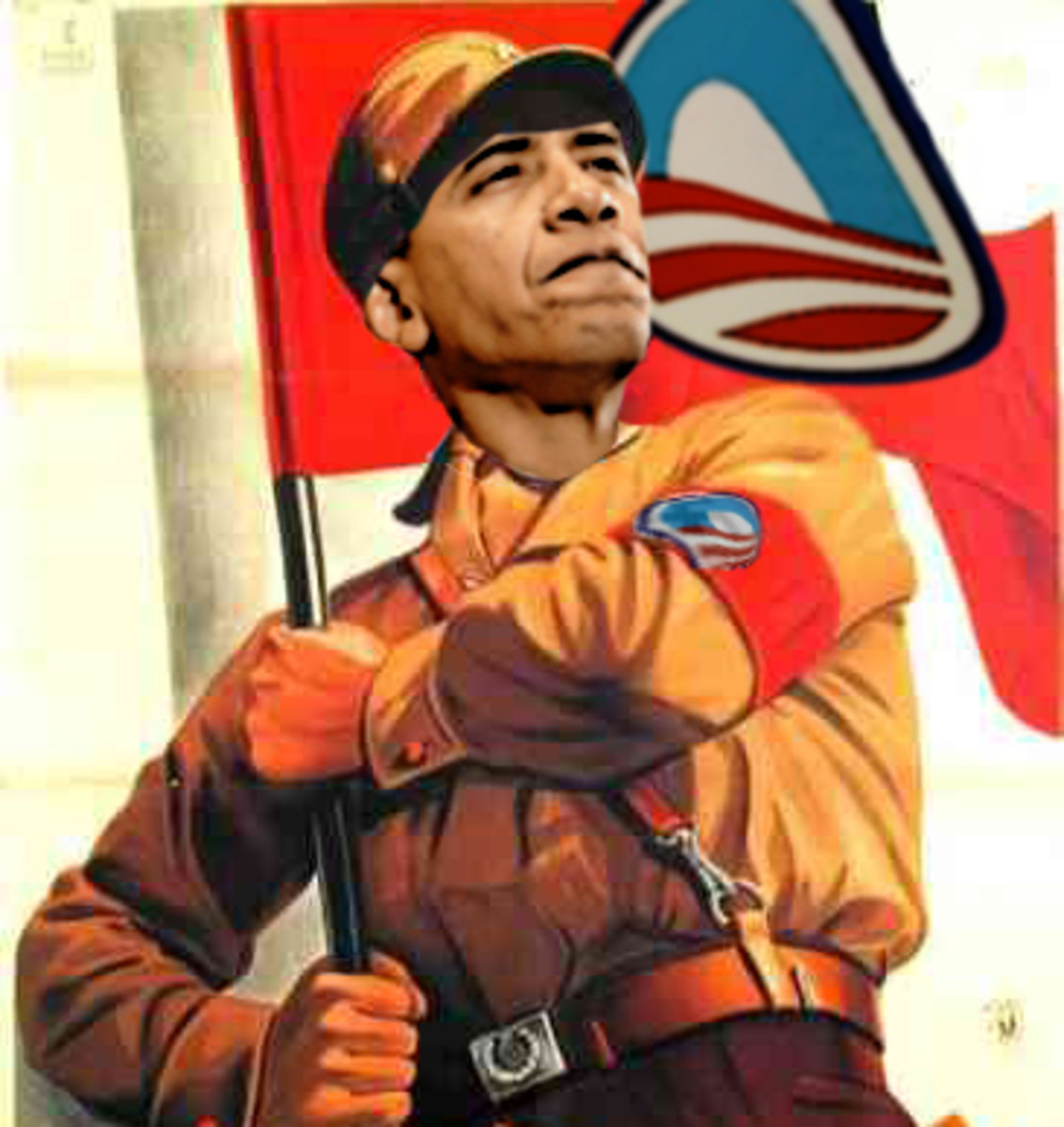 POLITICAL POSTER OF THE OBAMA YOUTH