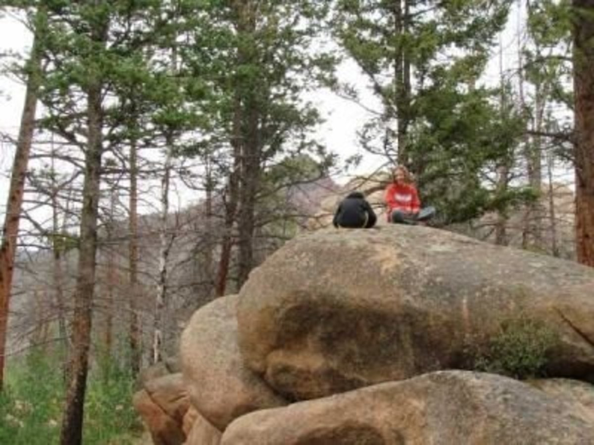 Our picky eaters enjoying a hike in Colorado