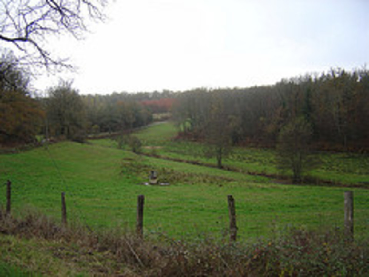 The landscape in Limousin is lovely even in early winter.