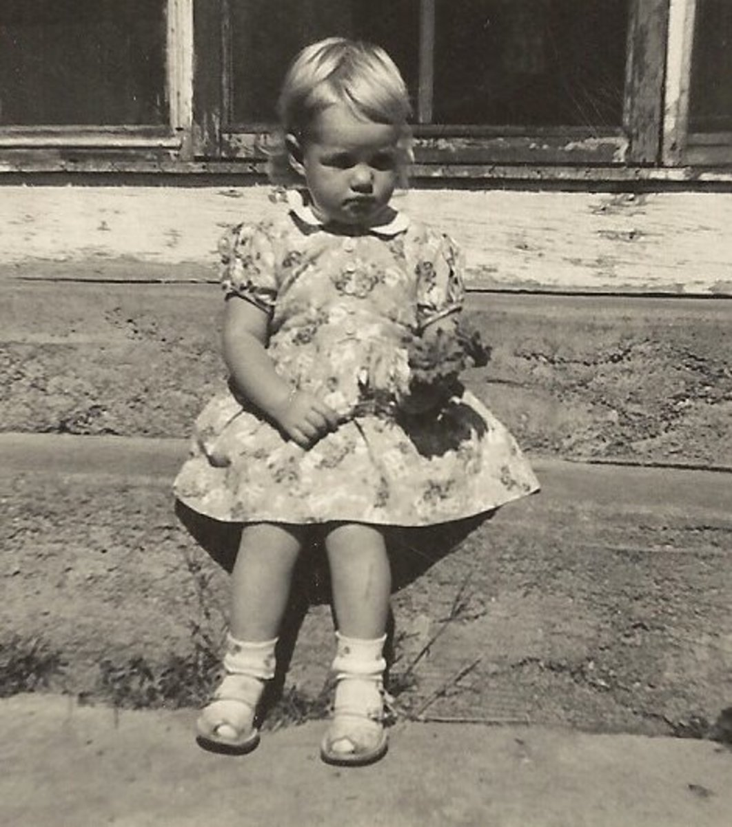 Here I am as a toddler. There are many family stories I should record from that time in my life.