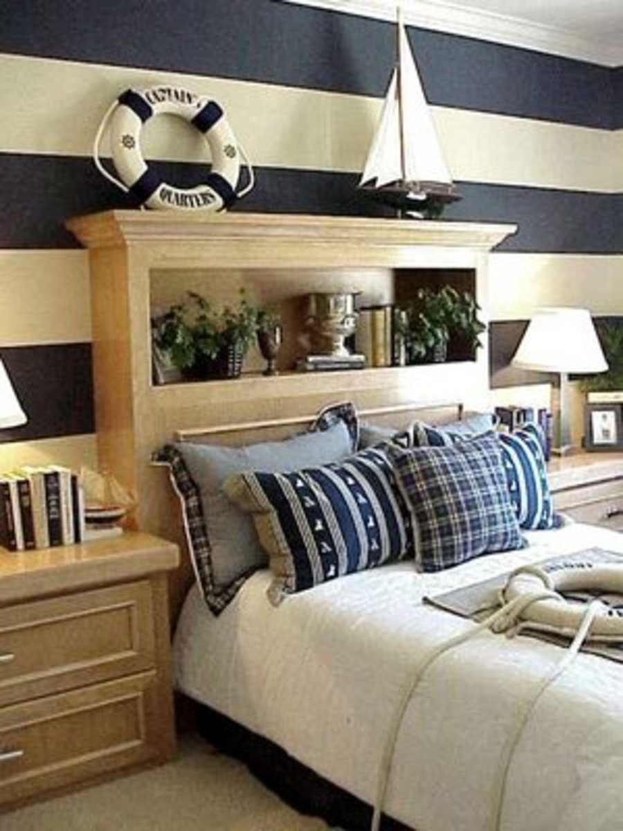 Nautical Decor begins with bedding selections