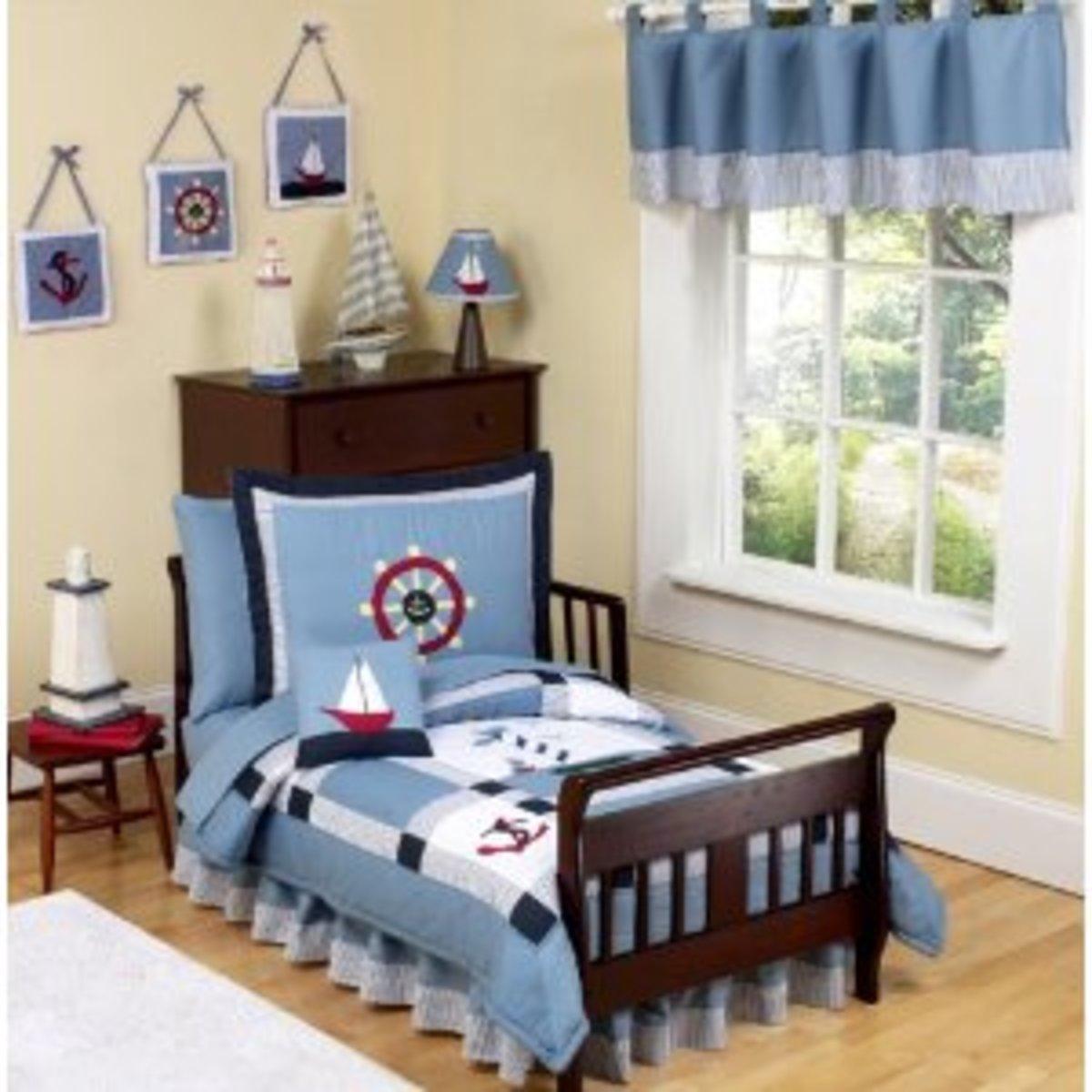 Nautical Toddler Bedding
