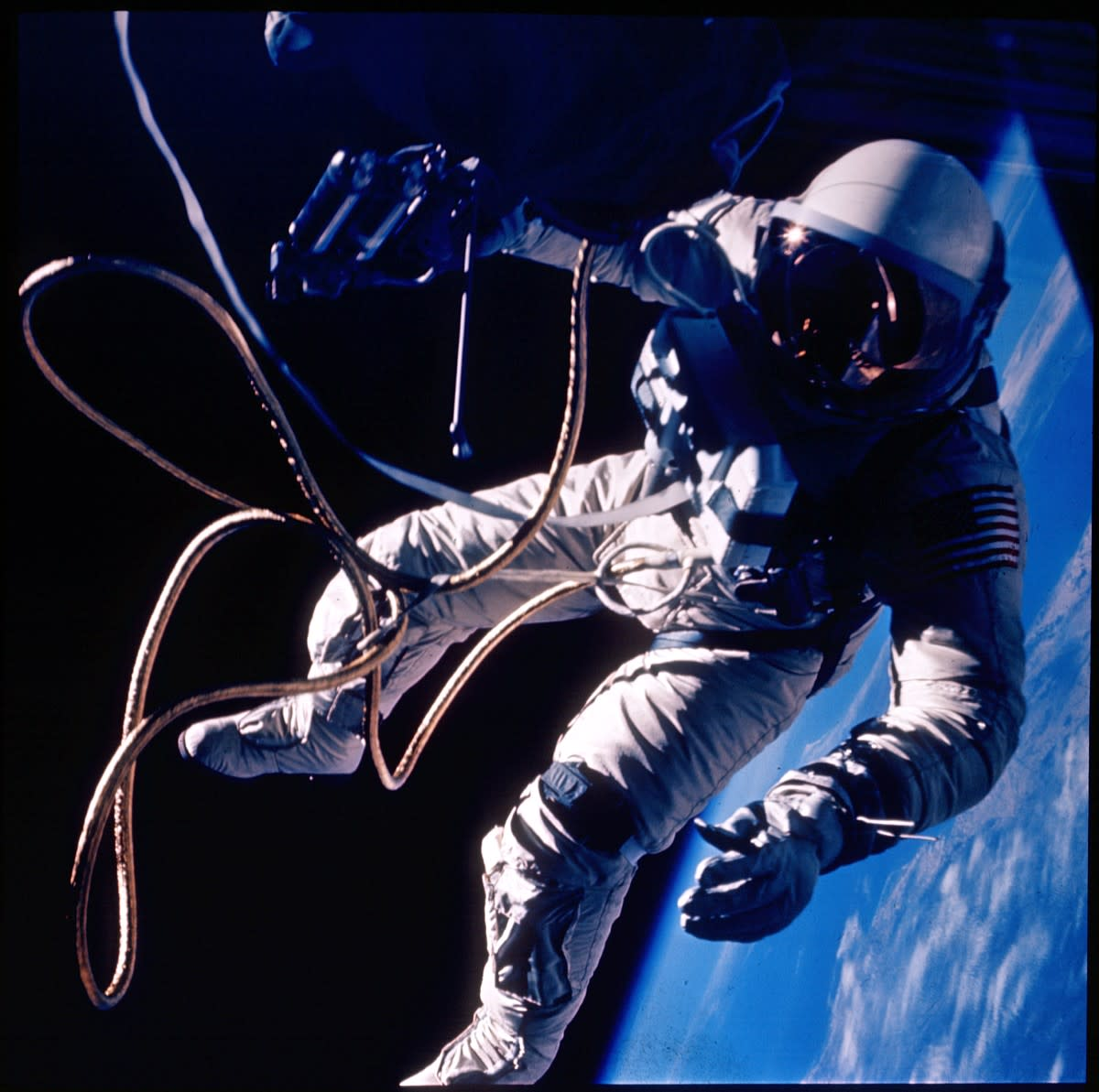 One of the iconic images of the Space Age - Astronaut Ed White floating in space on America's first spacewalk. Photo courtesy of NASA.