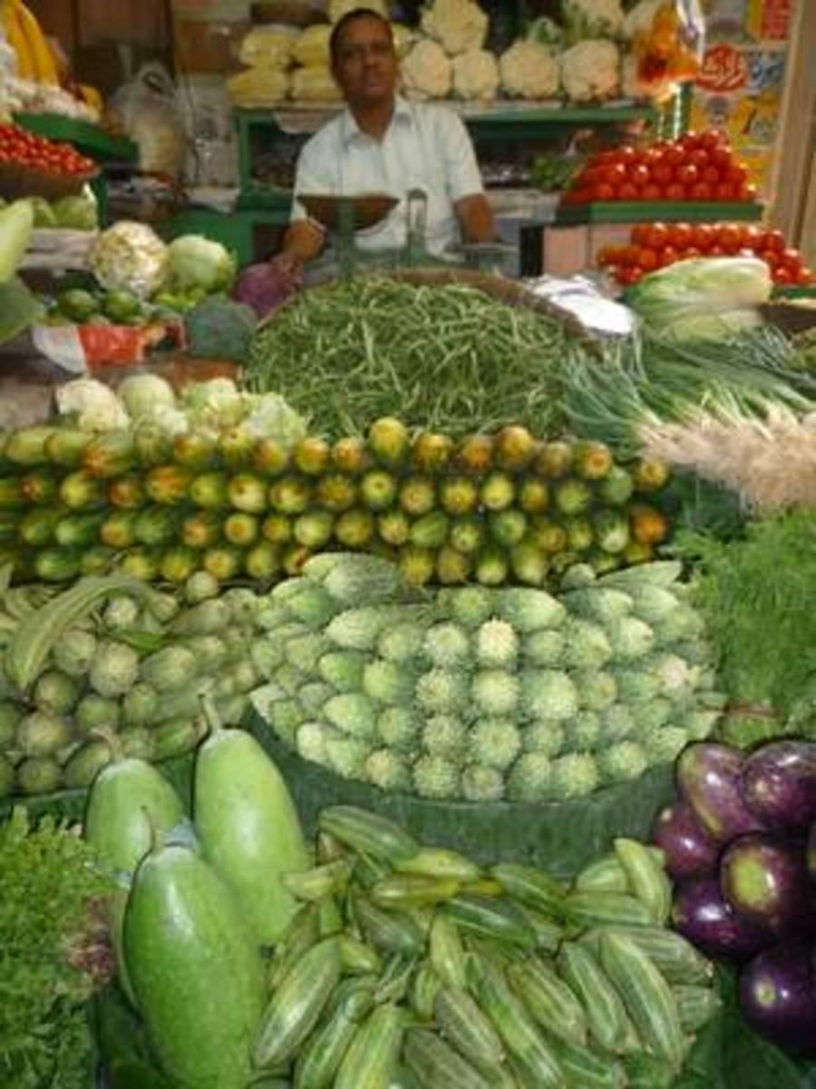market scene India