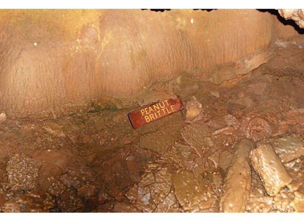Peanut Brittle - broken pieces of a false floor