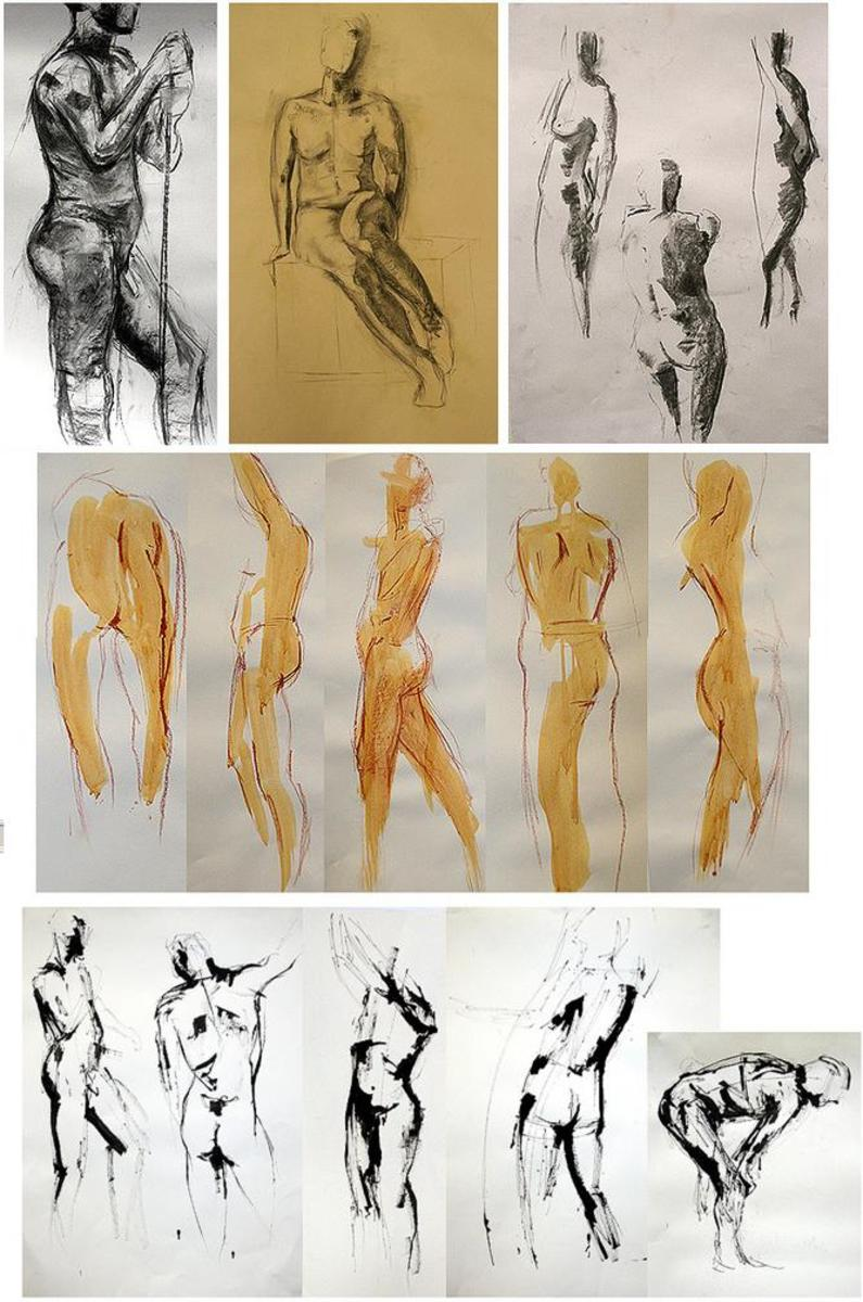 Life drawing is often an essential inclusion within the portfolio.