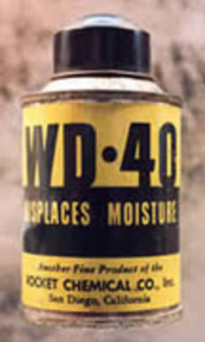 Original old WD-40 Label and can design.