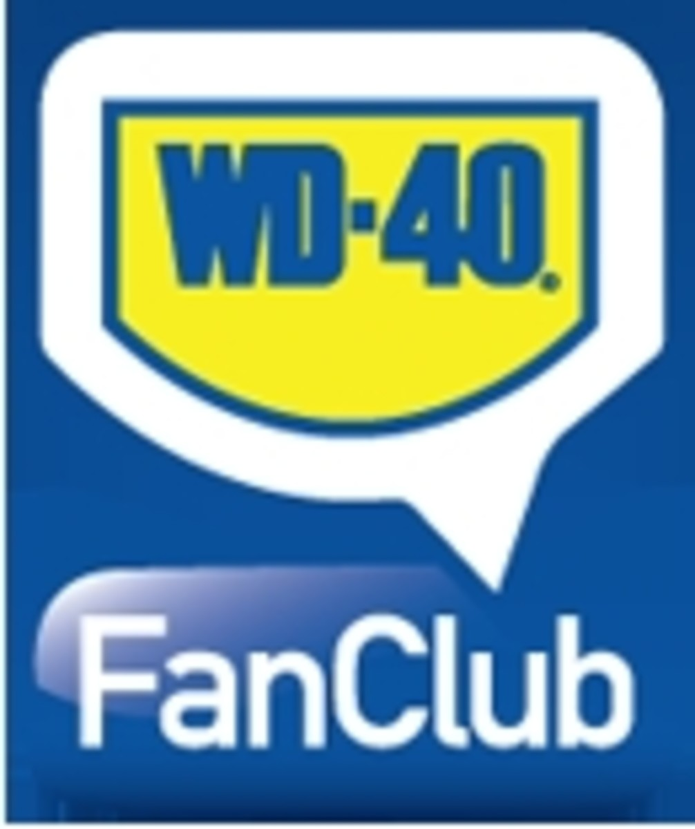The official WD-40 Fan Club logo. Join the WD-40 Fan Club by clicking on the link below: