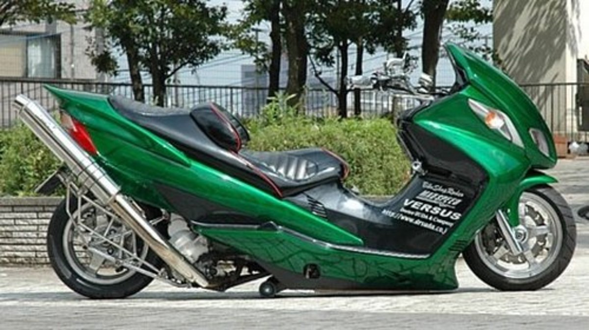 "And ""Modded"" Suzuki Skywaves"