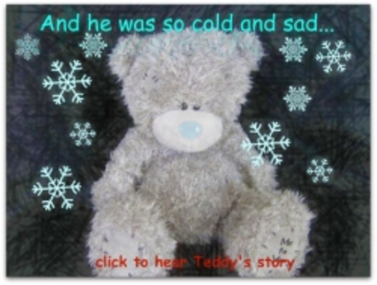 The Story of Tatty Teddy the grey blue nosed bear