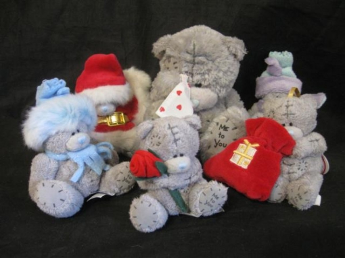 Small  Christmas Tatty Teddy's