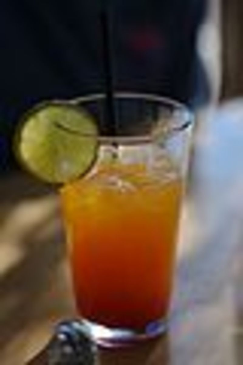 Canadian style Shirley Temple drink a non alcoholic drink. creative commons share alike license authro Ryan Forsyth