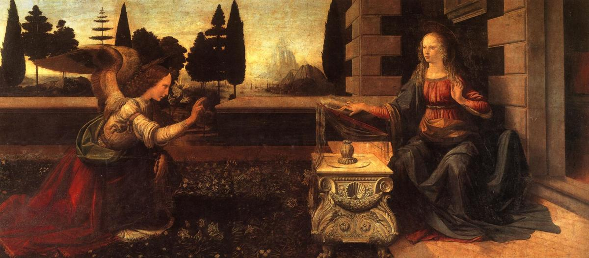 Leonardo da Vinci's Annunciation