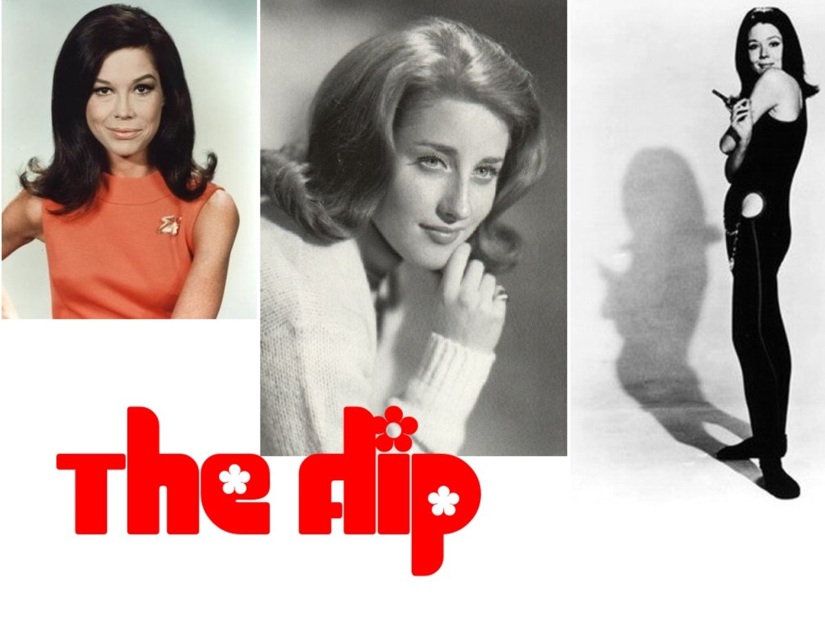 The Flip as modelled by Dianna Rigg alias Emma Peel, Mary Tyler Moore and Leslie Gore
