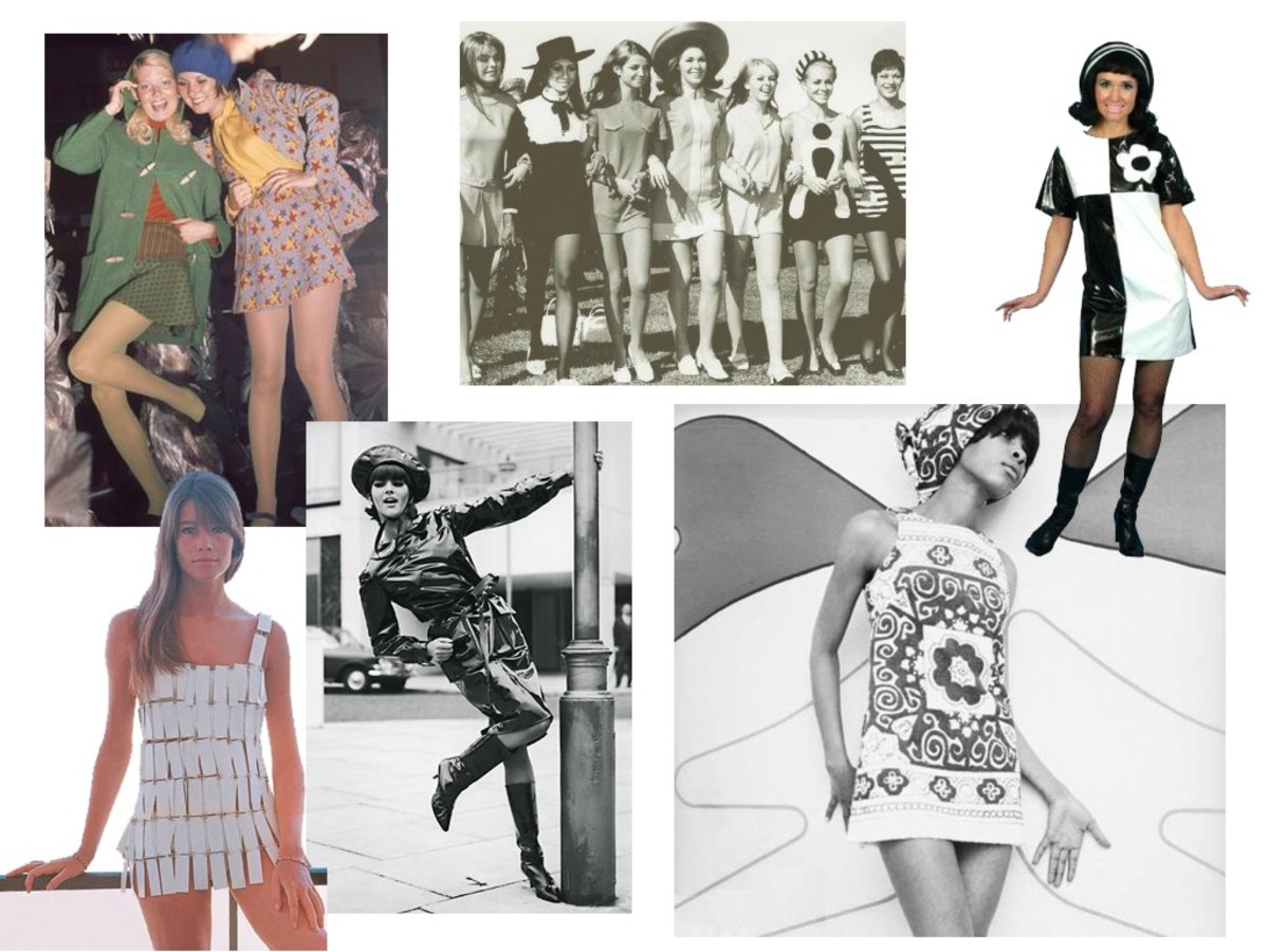A selection of the clothing worn in the 60's