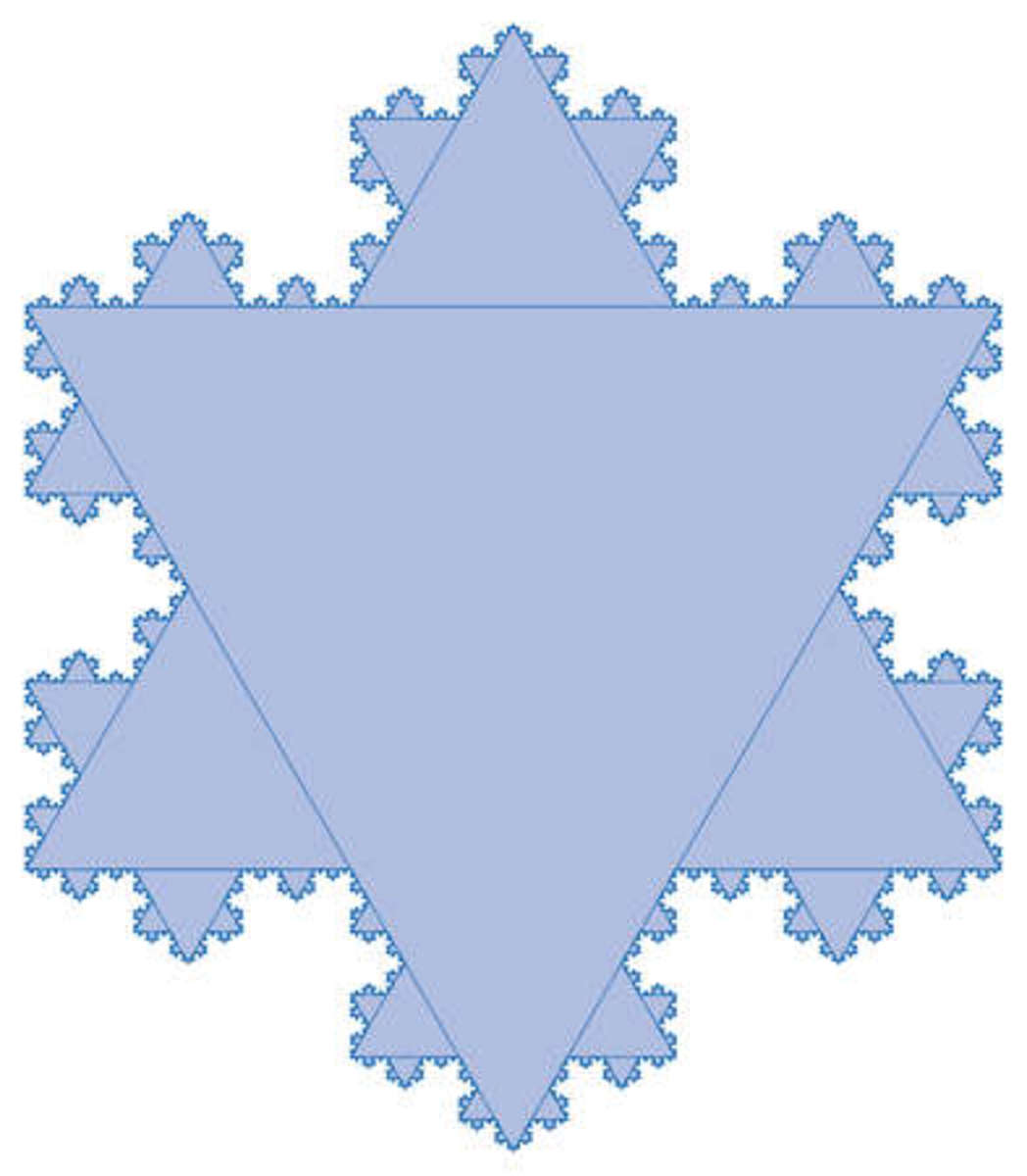 The Koch curve can be married to the Sierpinski triangle. Look carefully and you can see the possibilities.