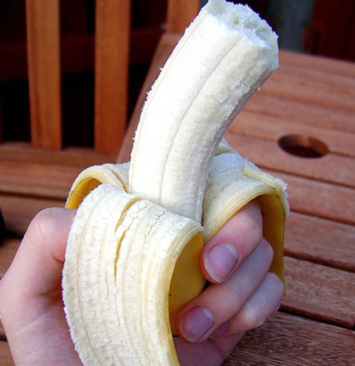 Peel and eat a banana