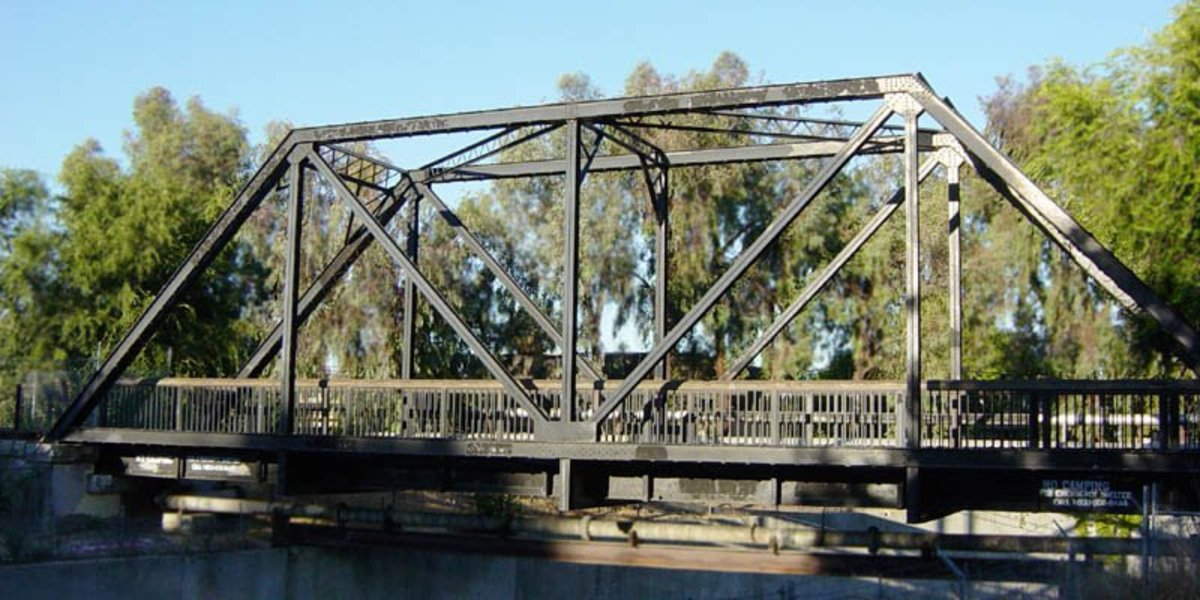 A simple Truss Bridge.