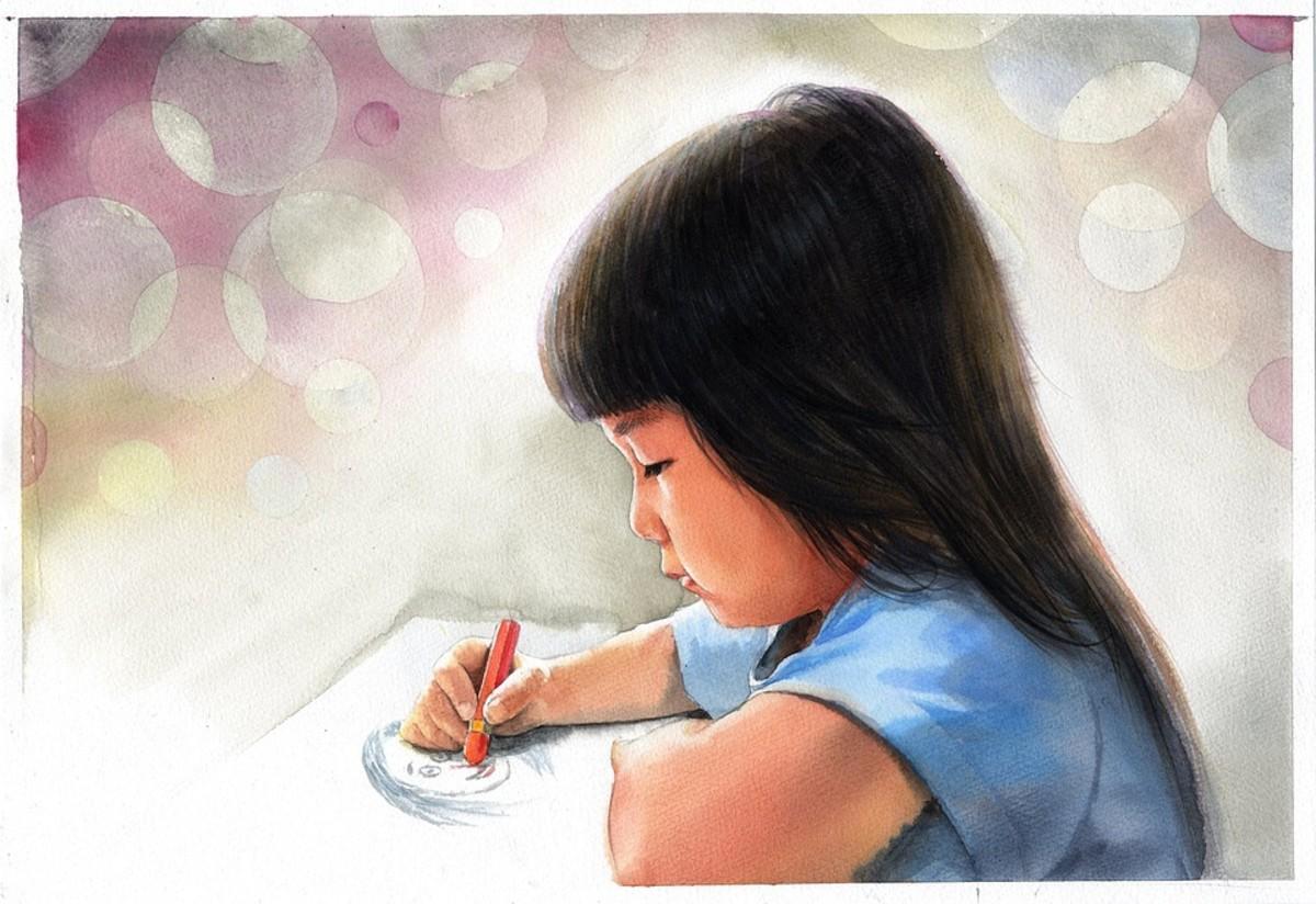 A creative child will grow spiritually.