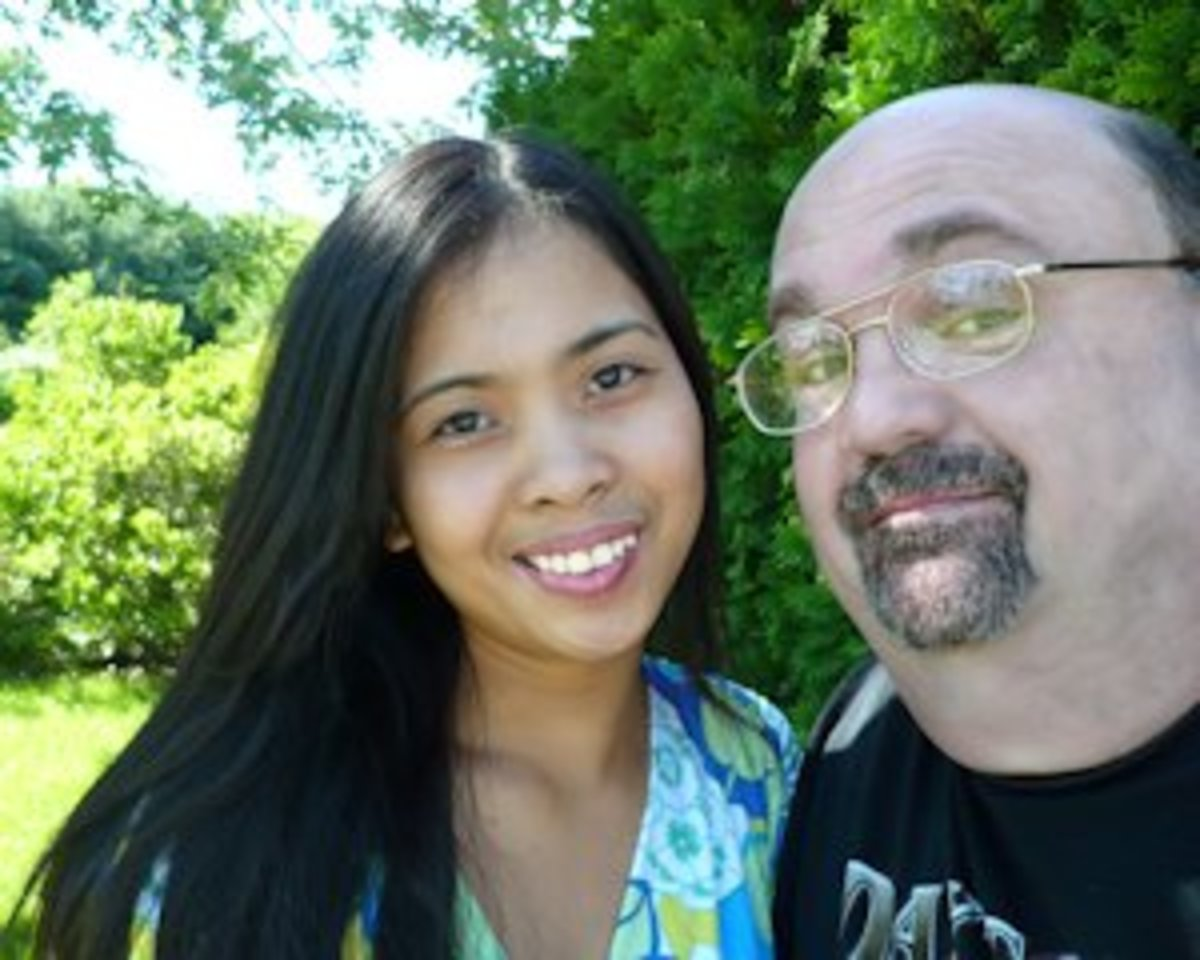 The author and his beautiful Filipina wife.