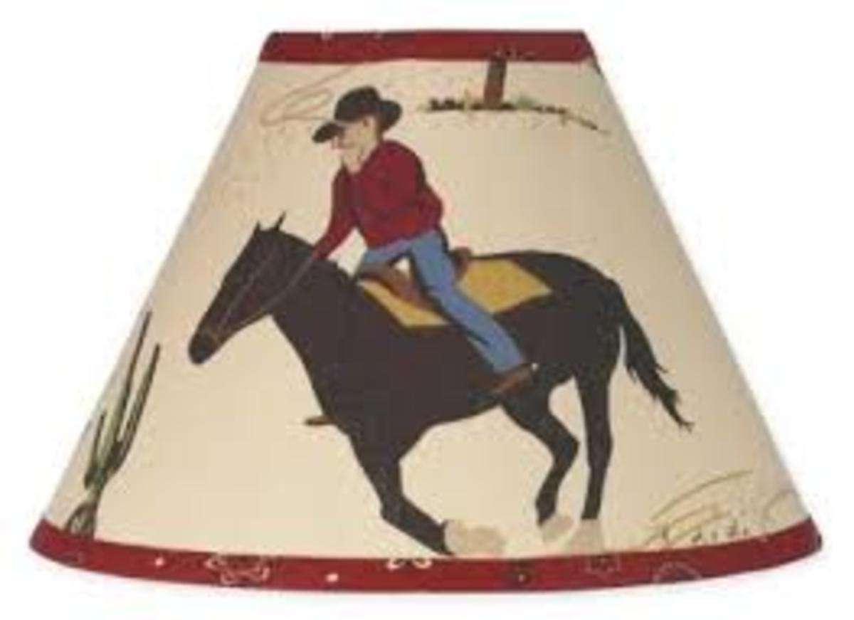 Wild West Cowboy Western Horse Lamp Shade