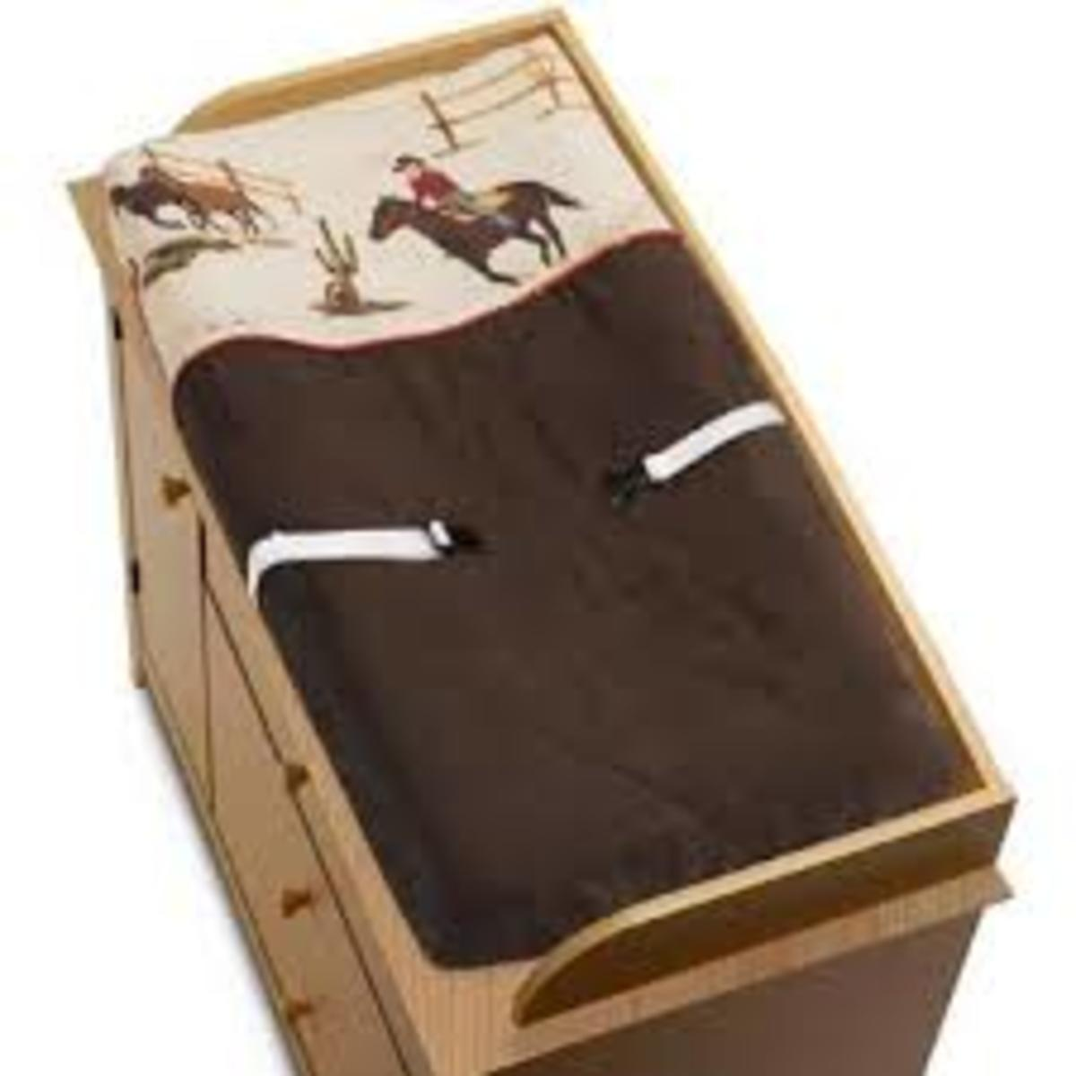 Wild West Cowboy Western Horse Changing Pad Cover