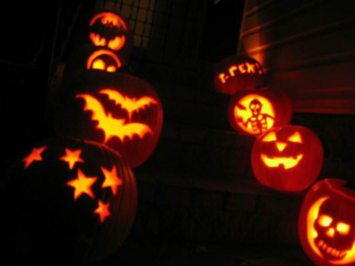 You can use cookie cutters to make fun shapes in your pumpkin.