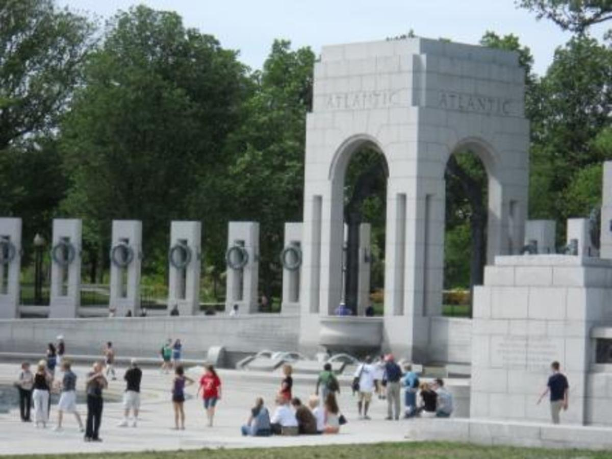 WWII Memorial. Atlantic column. This is an amazing site to see.