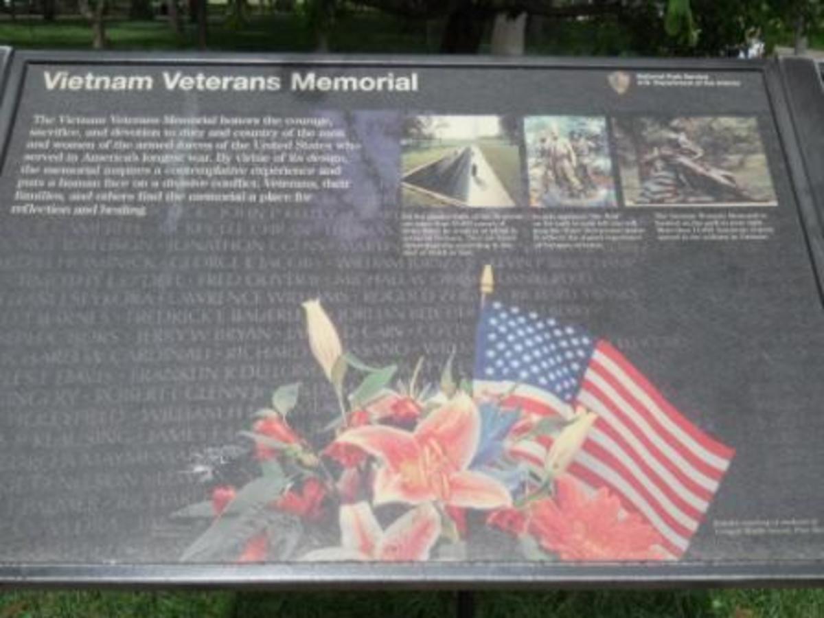 The Vietnam Memorial Plaque