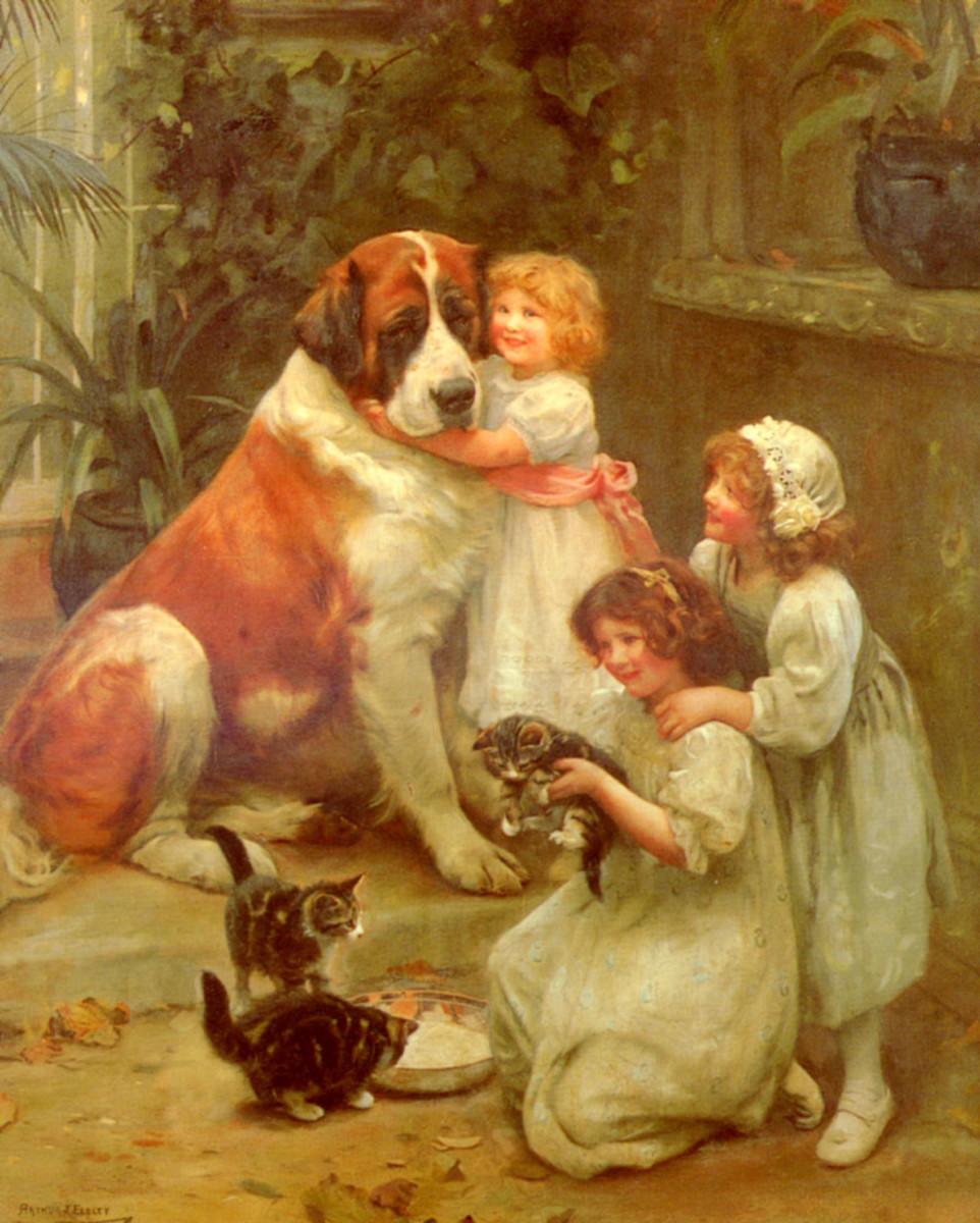 Family Favourites by Arthur John Elsley. Image courtesy Wiki Commons