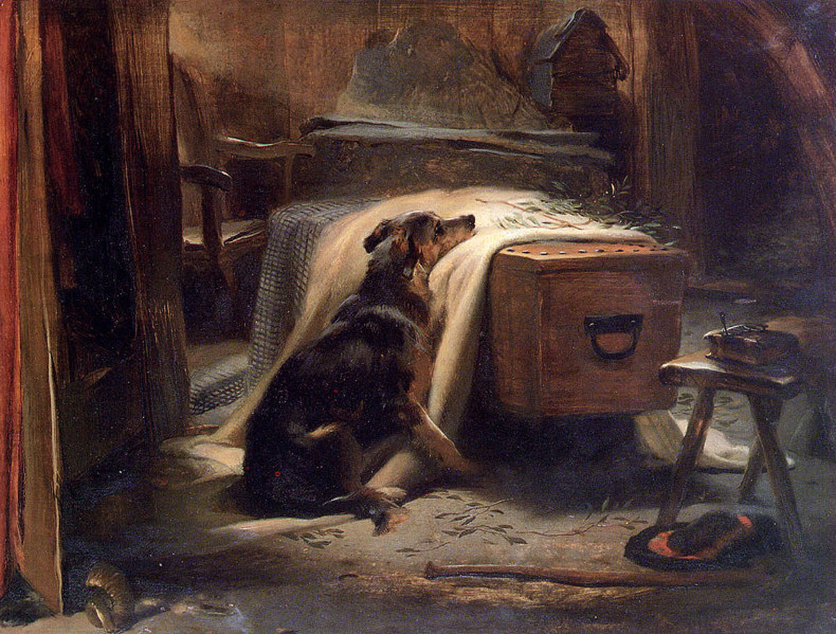 Old Shepherd's Chief Mourner by Sir Edwin Landseer, 1837. Image courtesy Wiki Commons
