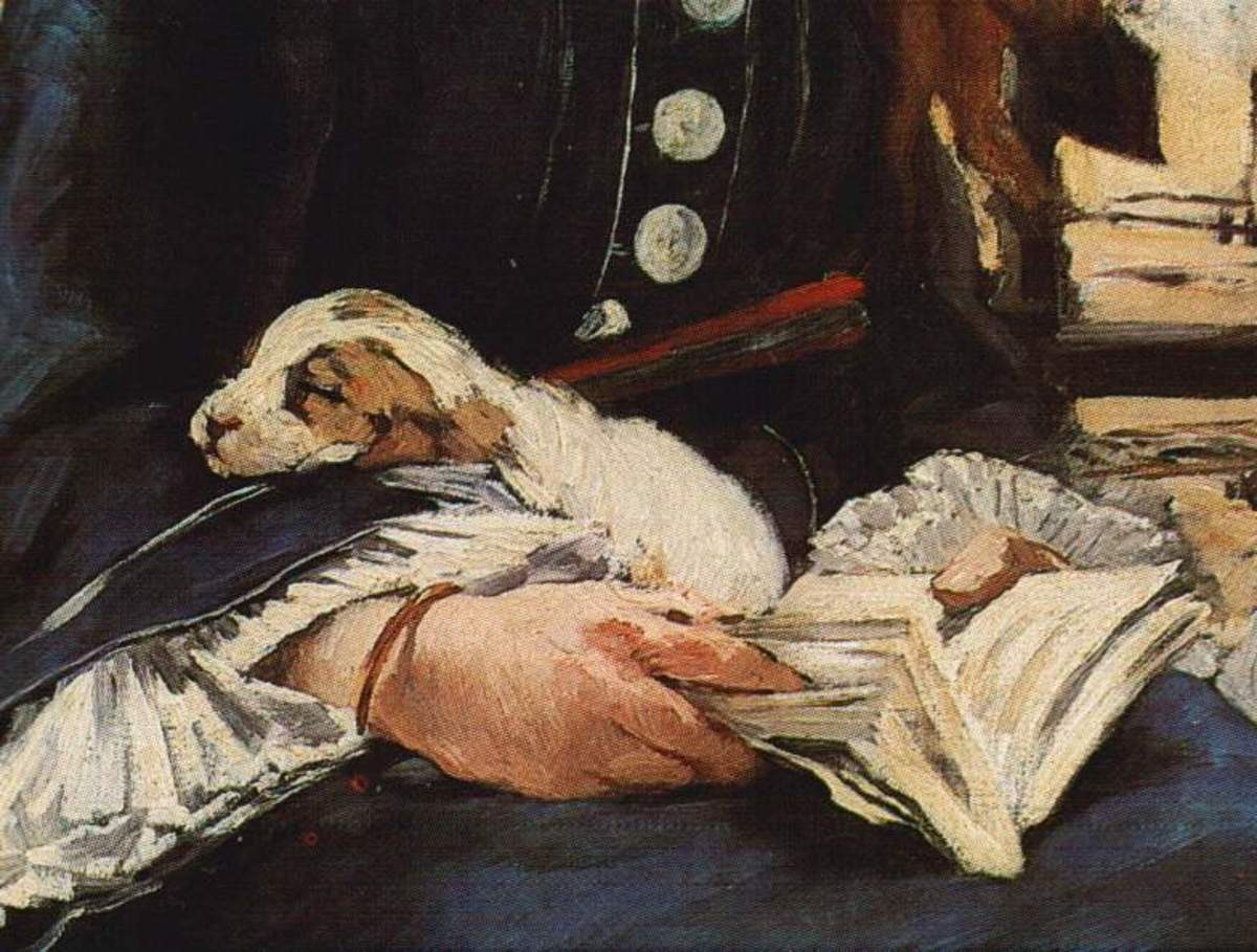 Detail from 'The Railway' by Edouard Manet. Painting is now in National Gallery of Art in Washington d.c. Image courtesy Wiki Commons
