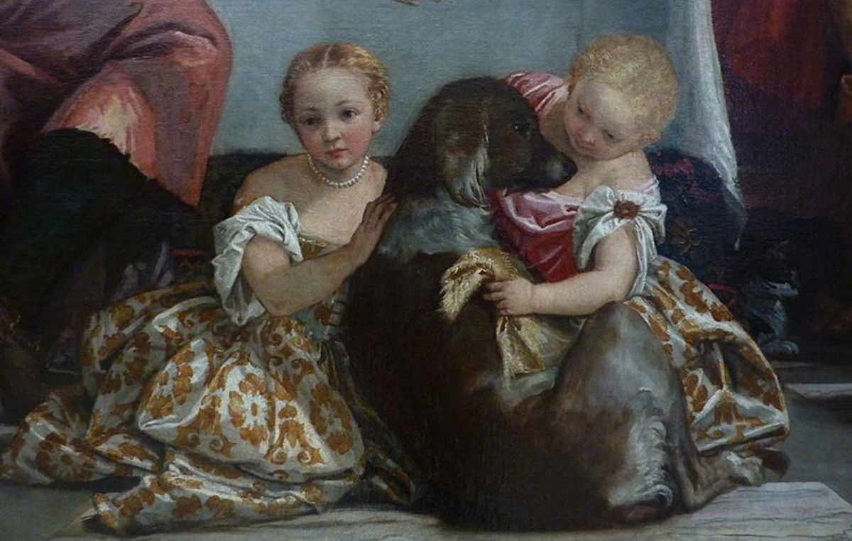 Detail from Les Pelerins d'Emmaus by Paolo Veronese, painted in the 16th century. Image courtesy Wiki Commons.