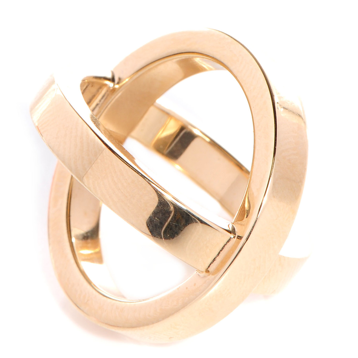 Hermes scarf ring in gold - modern design of circles