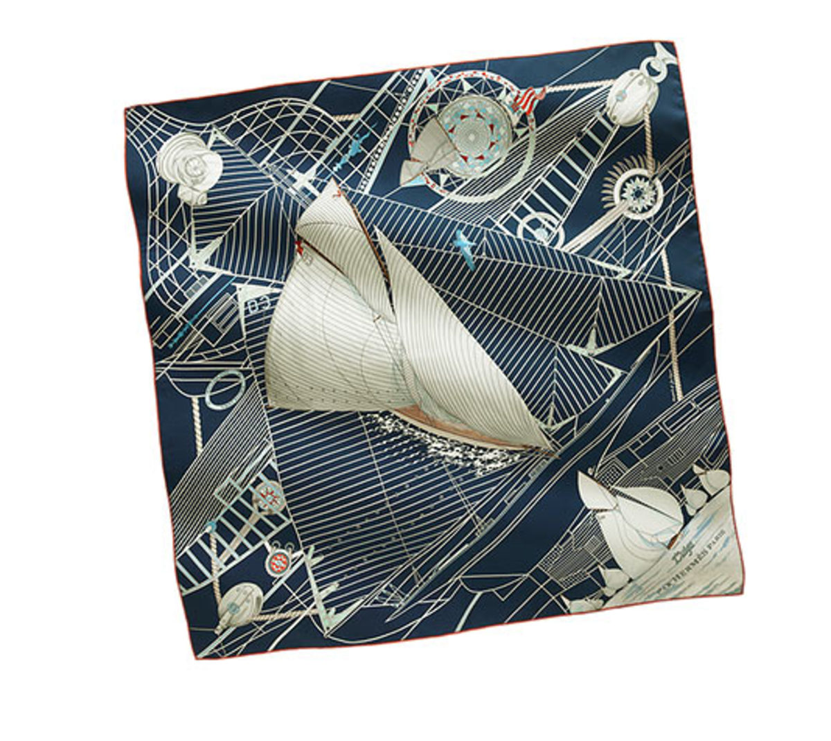 beautiful nautical scarf from purseblog