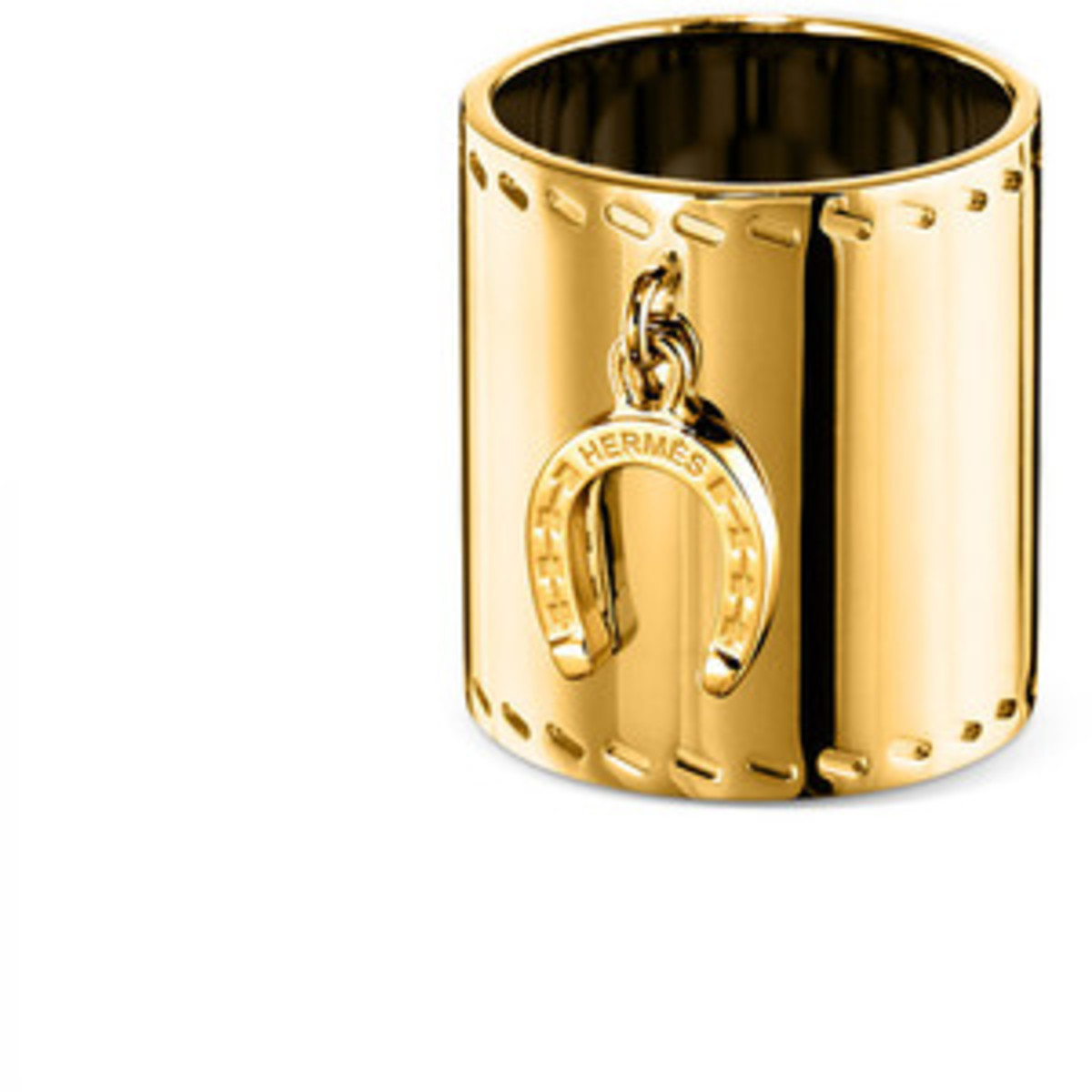 beautiful gold scarf ring by Hermes