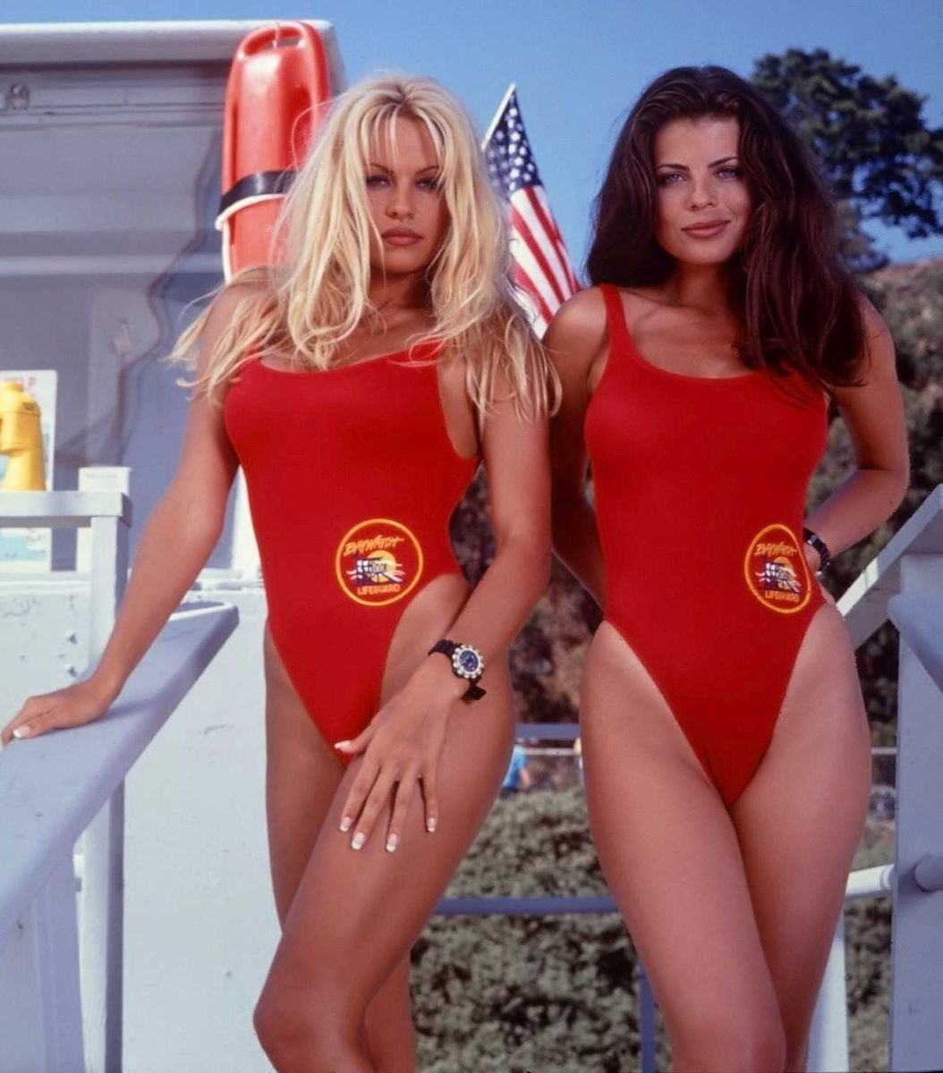 Pamela Anderson and Yasmine Bleeth from Baywatch (1989)