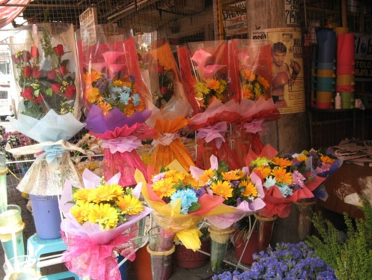 Beautiful flowers on display (Courtesy of http://photos.the-protagonist.net/dangwa-flower-market/)