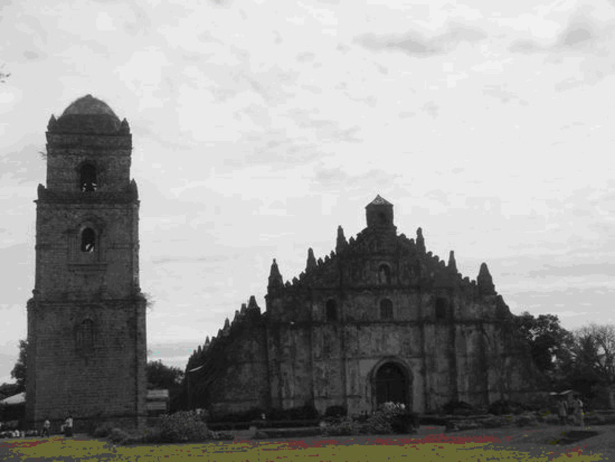Paoay church, Laoag - cited as UNESCO world heritage site; baroque church