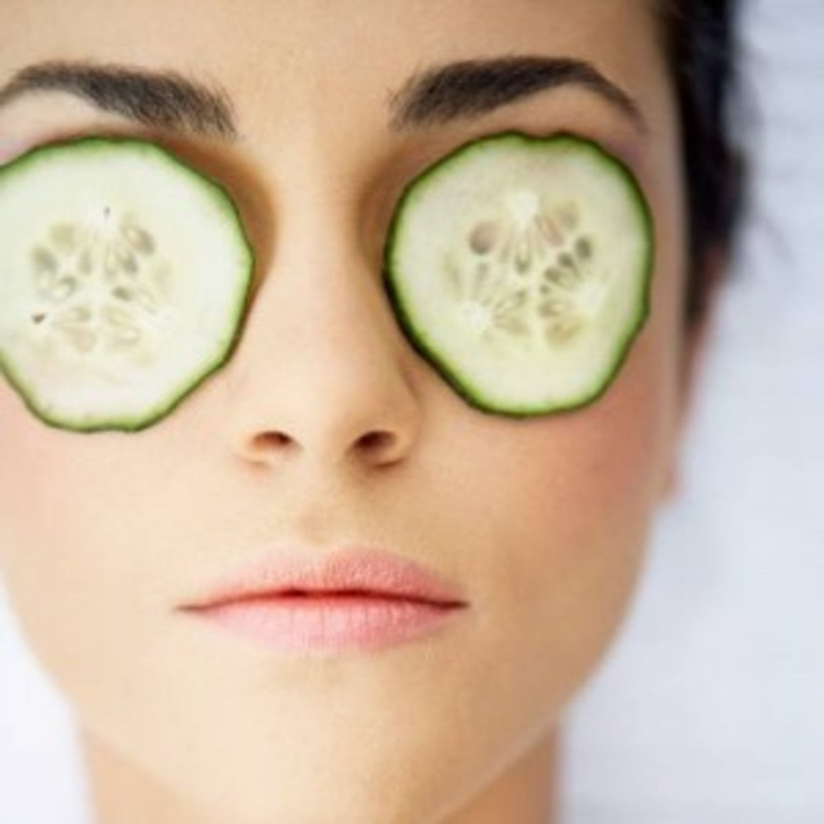 Slice cool cucumbers and lay them over the eyes