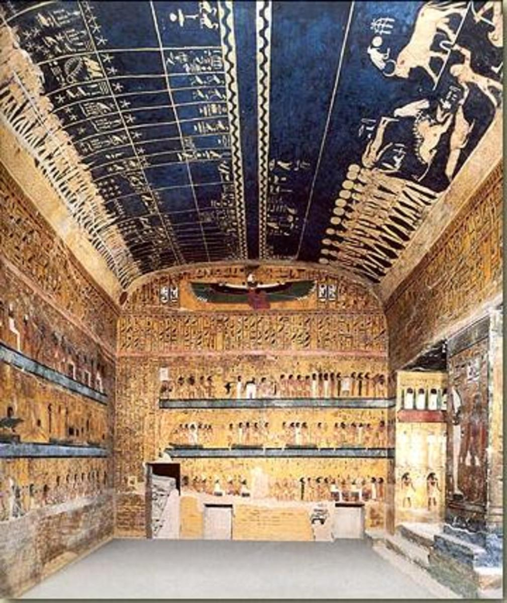 Interior for the tomb of Sety I