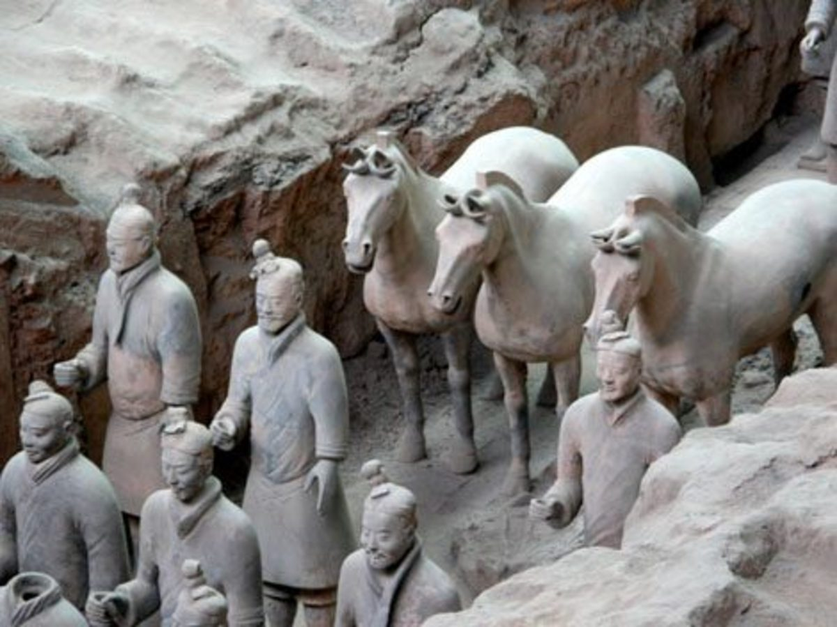 A glimpse of the Terra Cotta Army and the underworld of Emperor Qin. Courtesy Travel China.com.