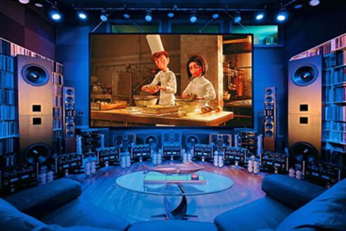 Great man cave with huge projection tvPhoto credit - http://www.marcresearch.com/blogs/merrill/2008/05/