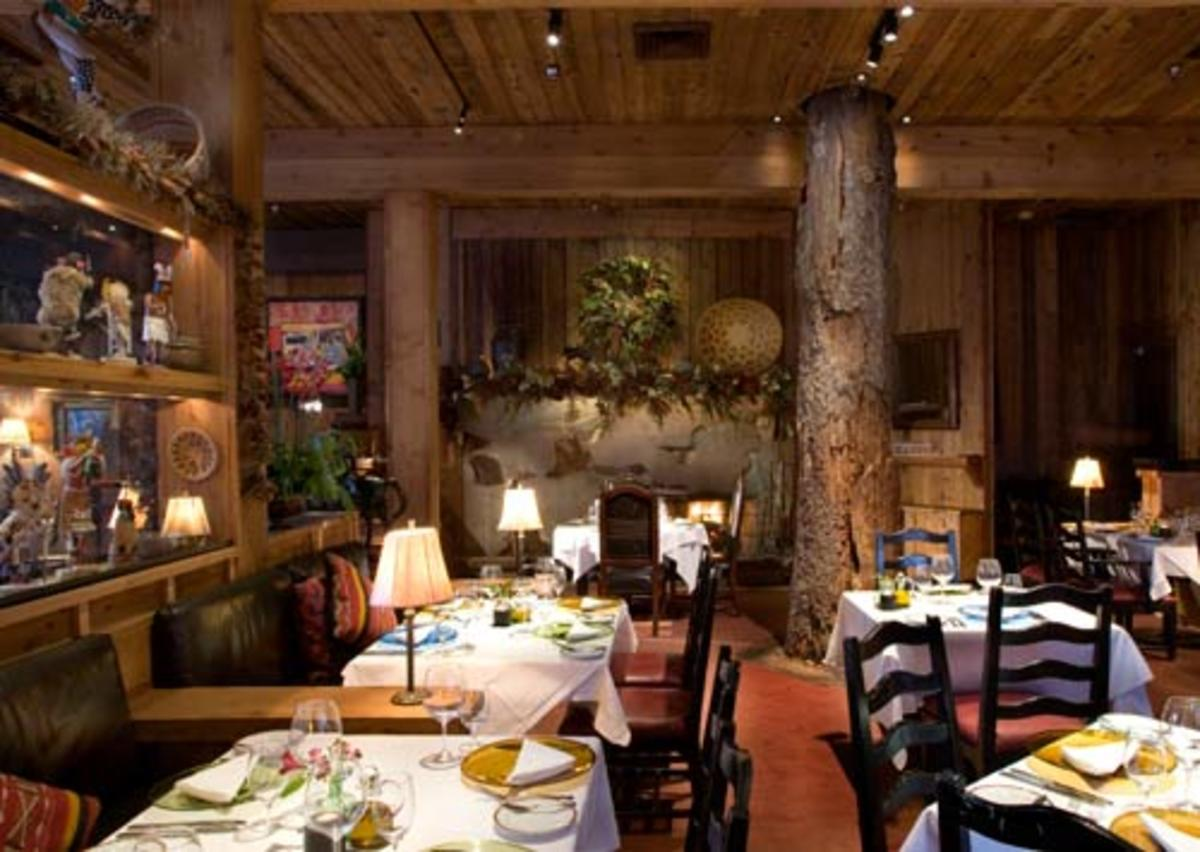 Originally The Tree Room restaurant was built around a live pine tree.  Unfortunately the tree died,leaving only the large stump remaining. Although the tree is no longer alive,the spirit of the tree lives on.