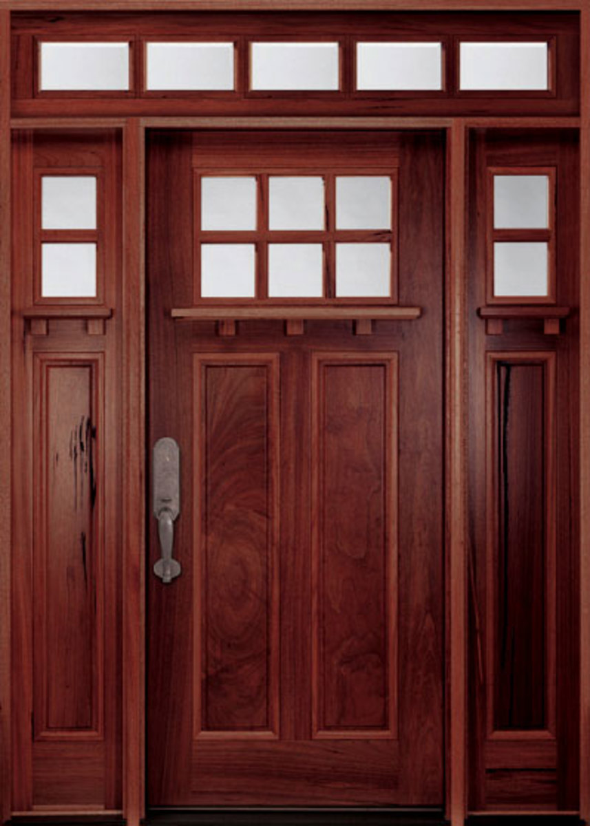 Walnut Fiberglass Door doorsforbuilders.com