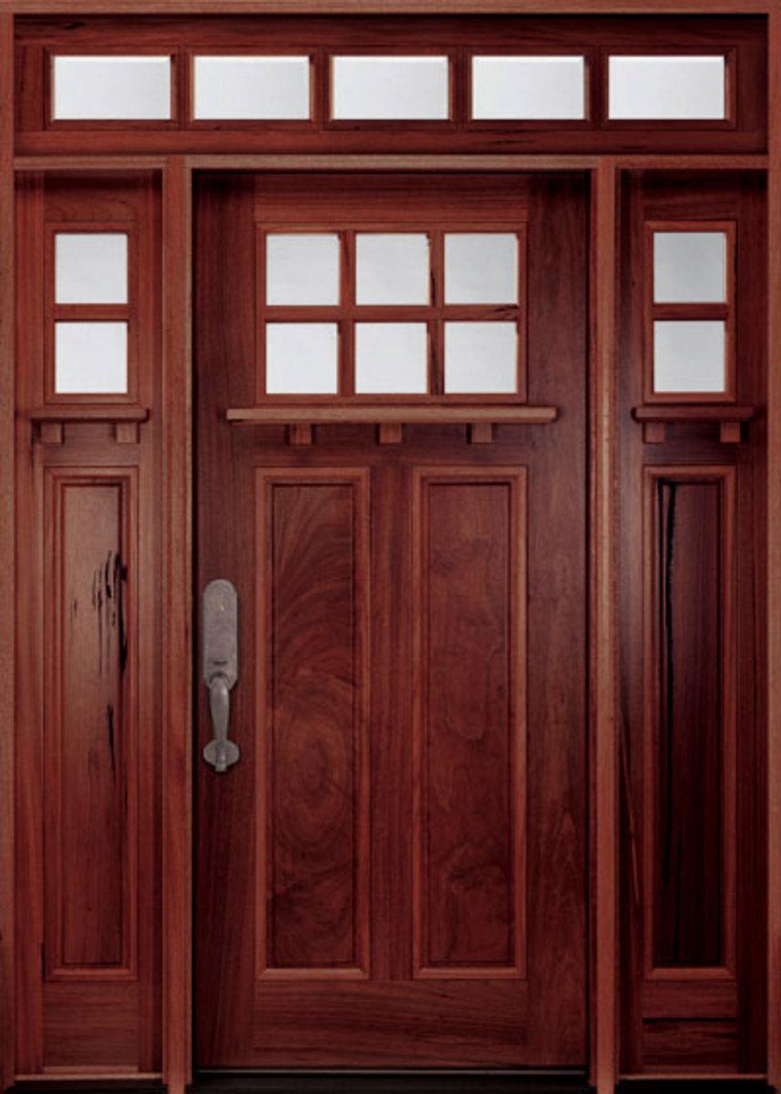 Walnut Fiberglass Door doorsforbuilders.com