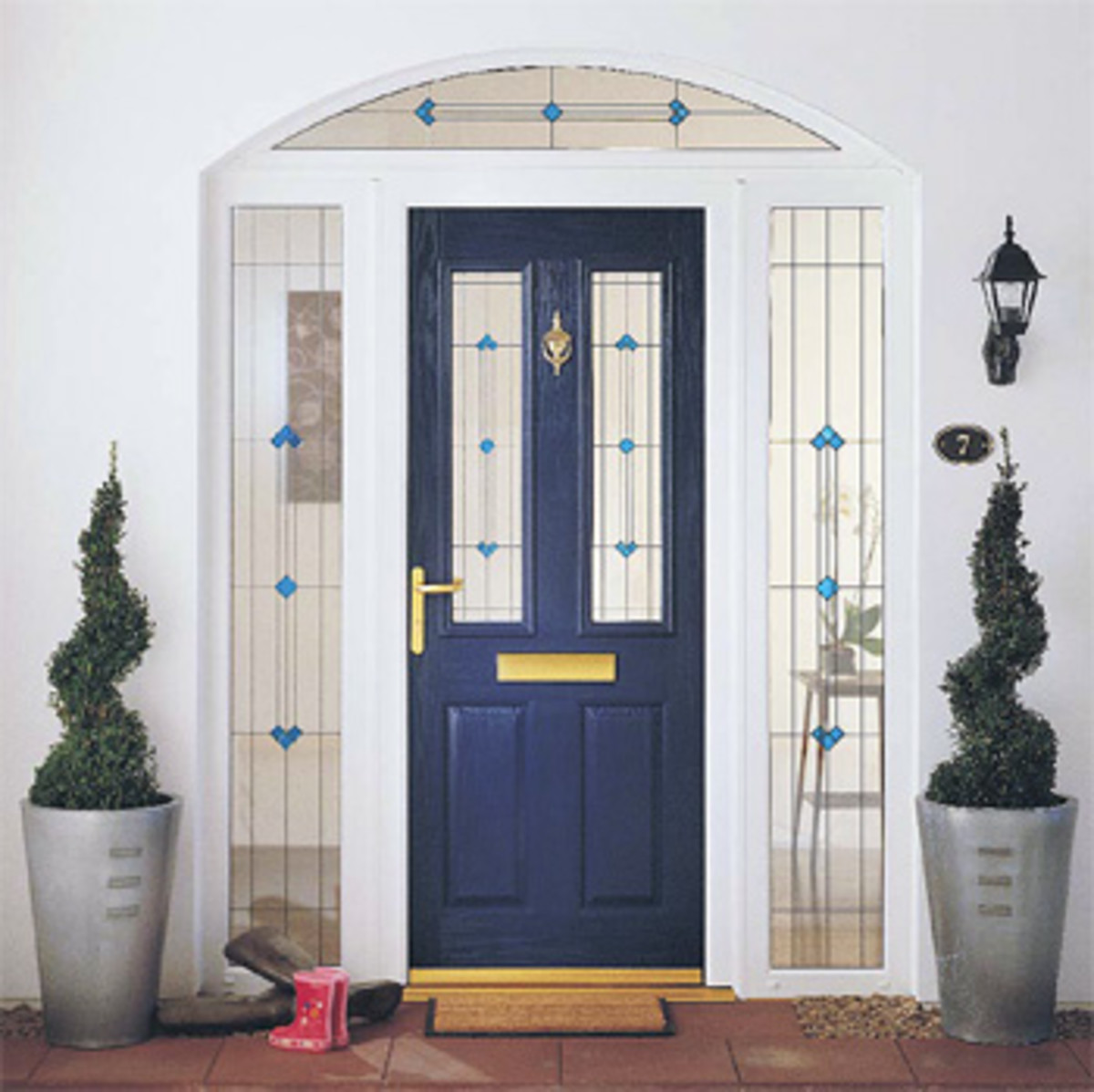 Composite Door with Decorate Glass camdengroup.co.uk