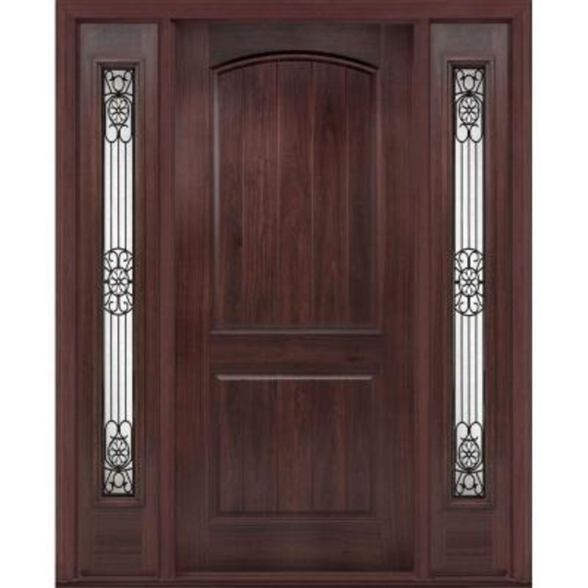 Fiberglass Black Walnut Door homedepot.com