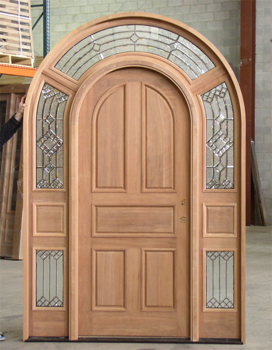 Entrance door with sidelights and transom thedoorkings.com